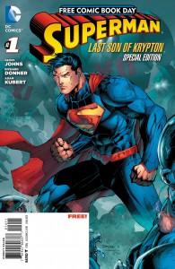 SuperMan, One of the free comics for National Free Comic Book Day