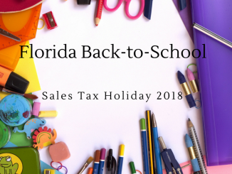 Florida Back to School Sales tax Holiday 2018